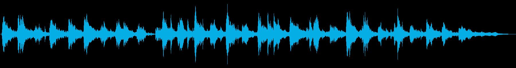 やさしくて綺麗な音色のピアノメロディーの再生済みの波形