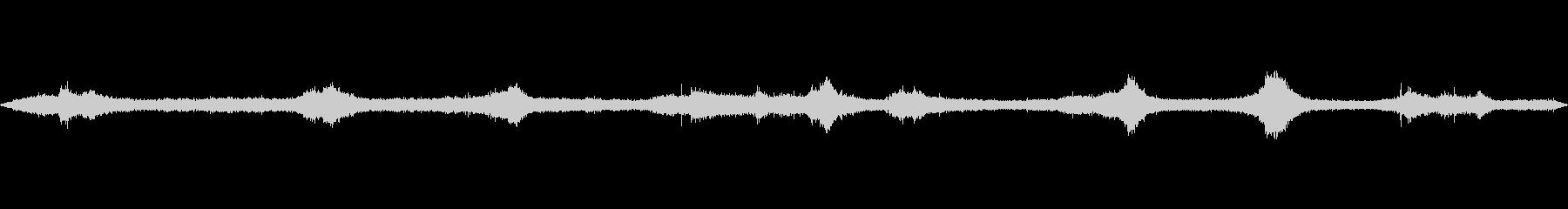 白浜 砂浜 白波のバイノーラル録音の未再生の波形