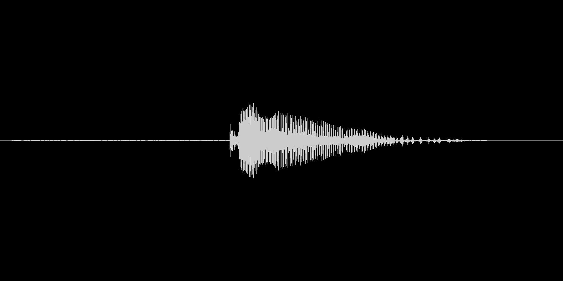 2(とぅー)の未再生の波形