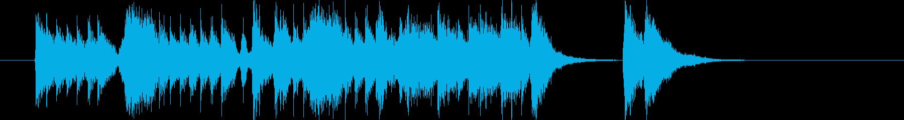 激しいジャパニーズロックの再生済みの波形