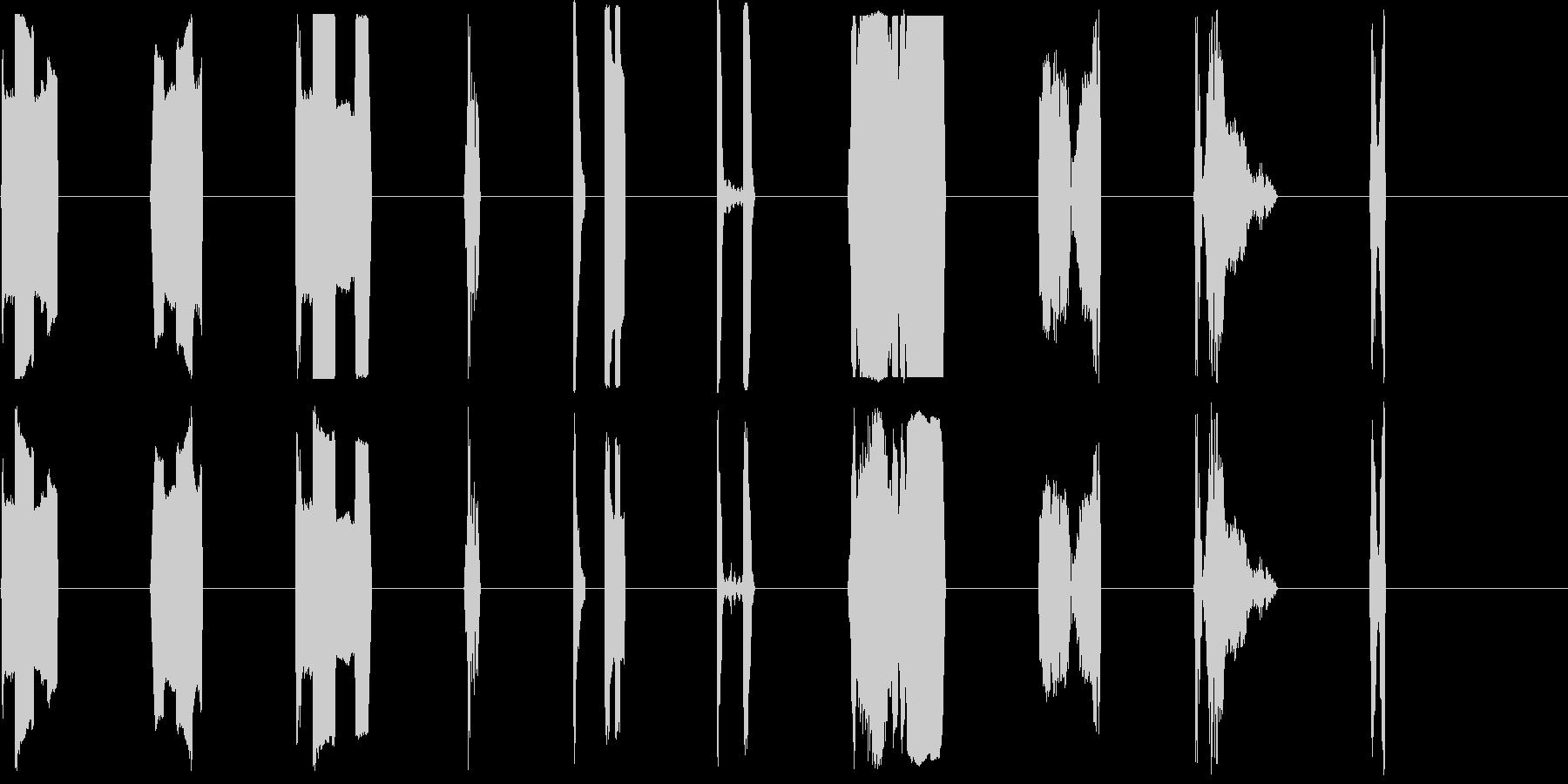 DJコンピューターアクティベートX15の未再生の波形