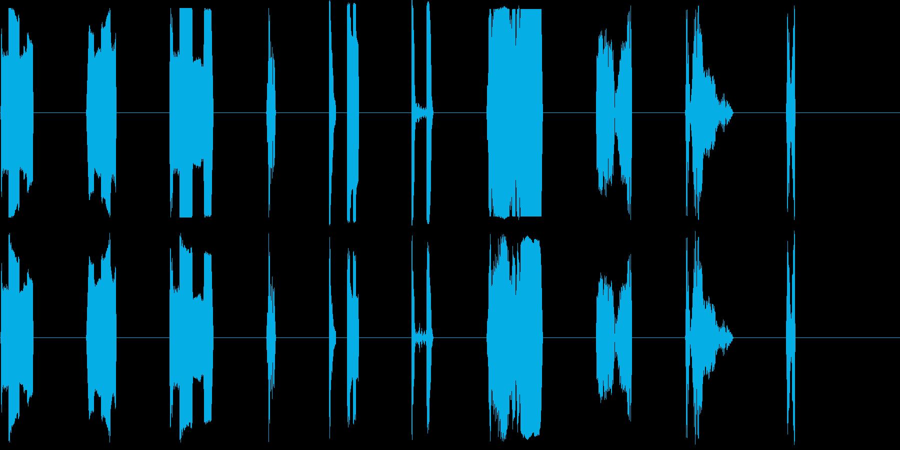 DJコンピューターアクティベートX15の再生済みの波形