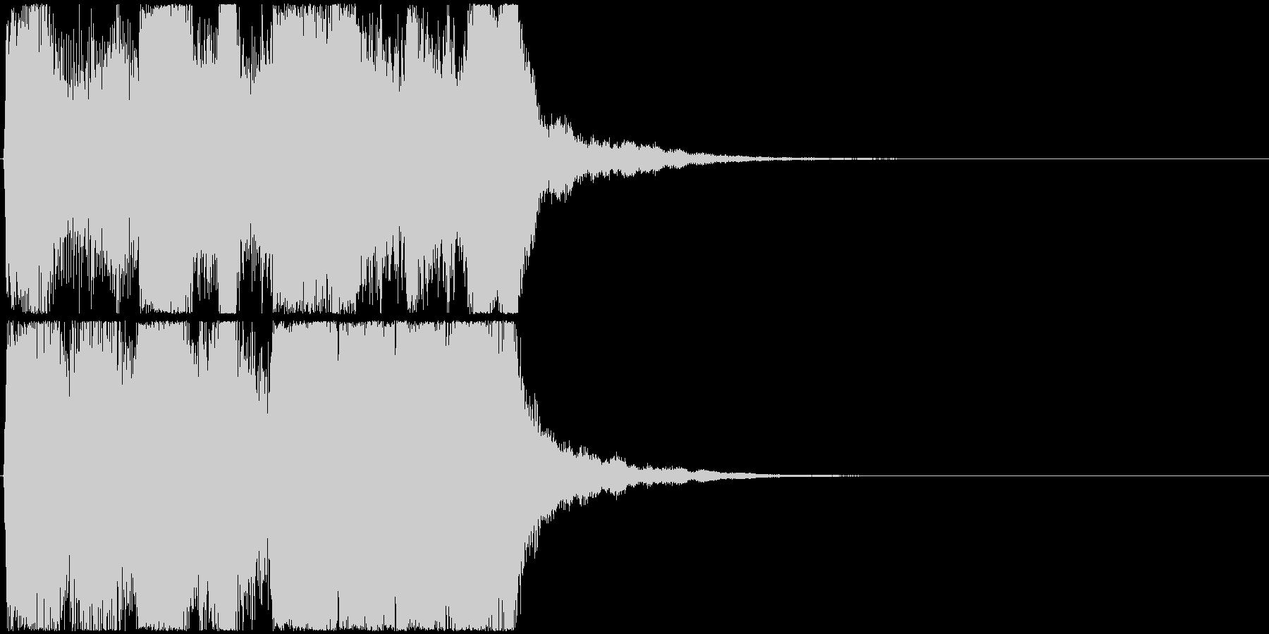 12 中程度の長さのファンファーレ 金管の未再生の波形