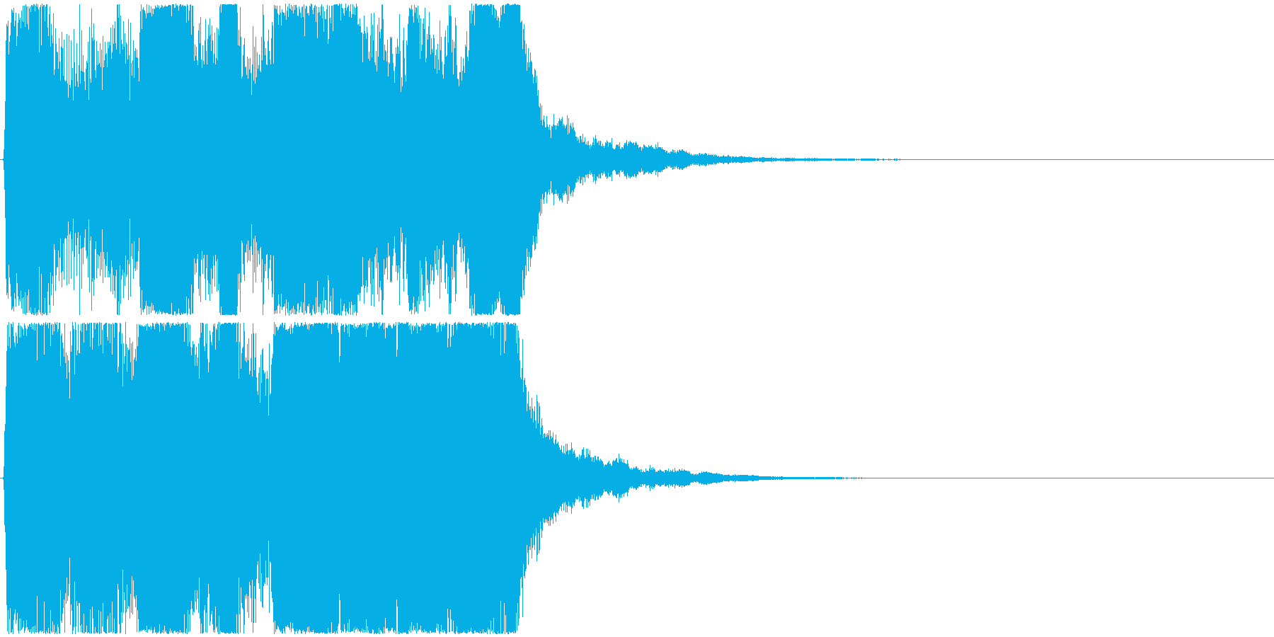 12 中程度の長さのファンファーレ 金管の再生済みの波形