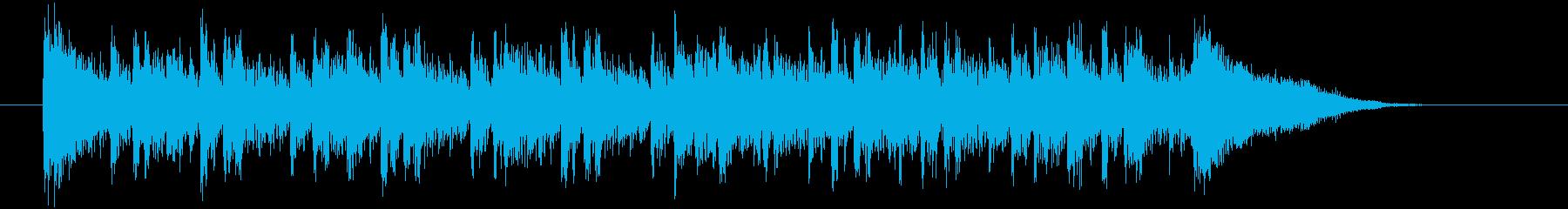 パーカッション系シークエンサーのEDMの再生済みの波形