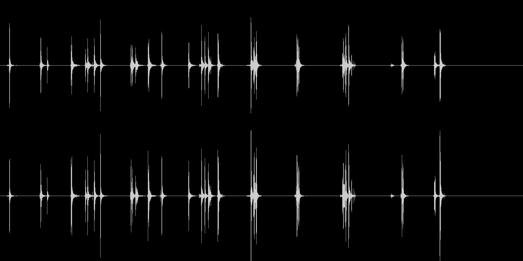 ドライヤー;スイッチとダイヤル。乾...の未再生の波形