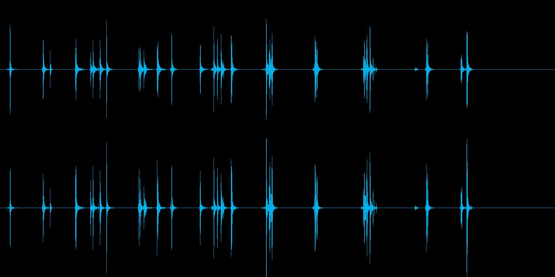 ドライヤー;スイッチとダイヤル。乾...の再生済みの波形