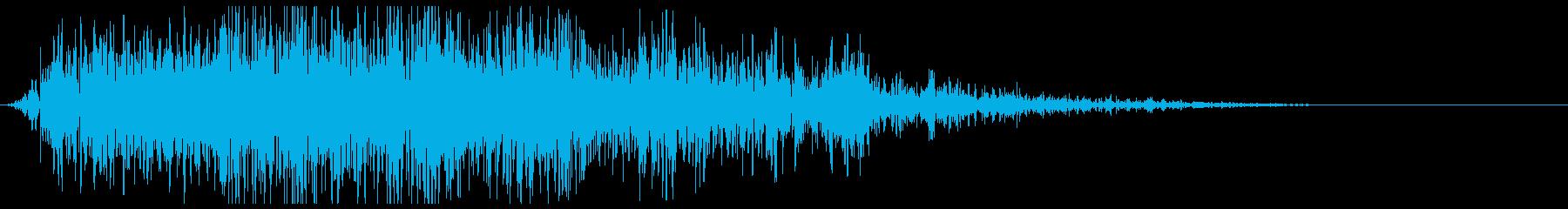 雷 カミナリ 攻撃(ゴロゴロ、ドドーンの再生済みの波形