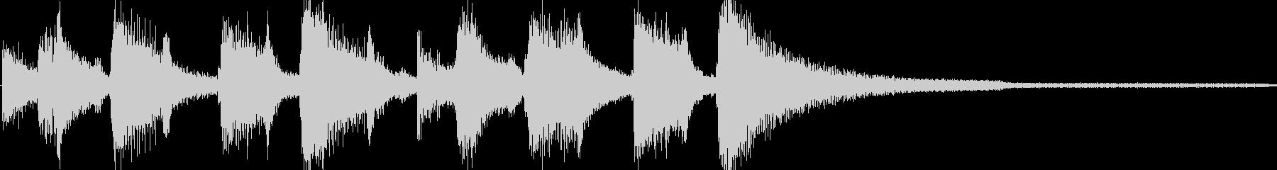 ジングル ジャズ風の未再生の波形