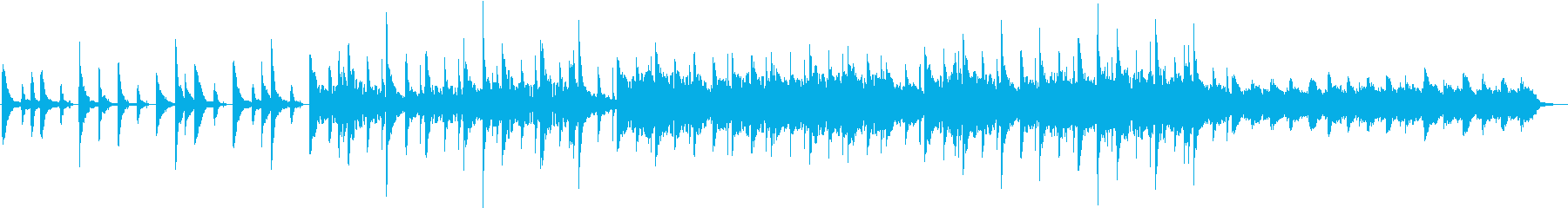 透明感があるが無機質な感じの曲の再生済みの波形