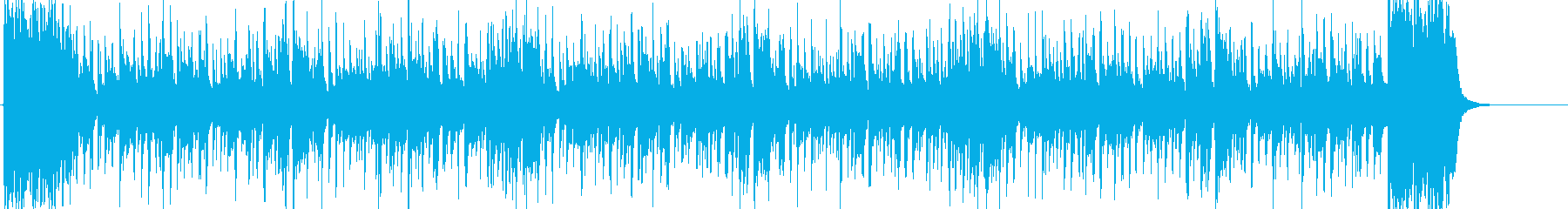 スリルを感じるファンキーソウルBGMの再生済みの波形