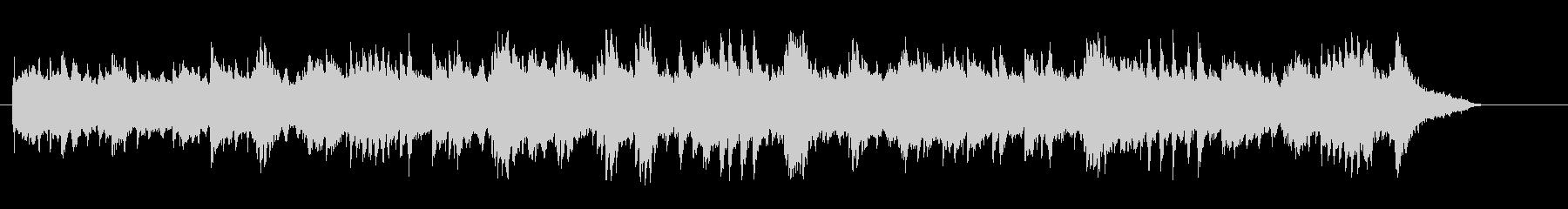 宇宙的な環境音楽風ピアノアコースティックの未再生の波形