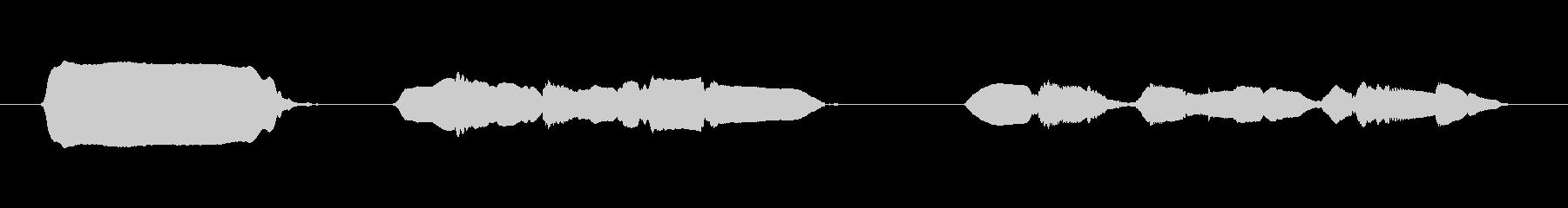素材 オカリナランダムフラクション02の未再生の波形