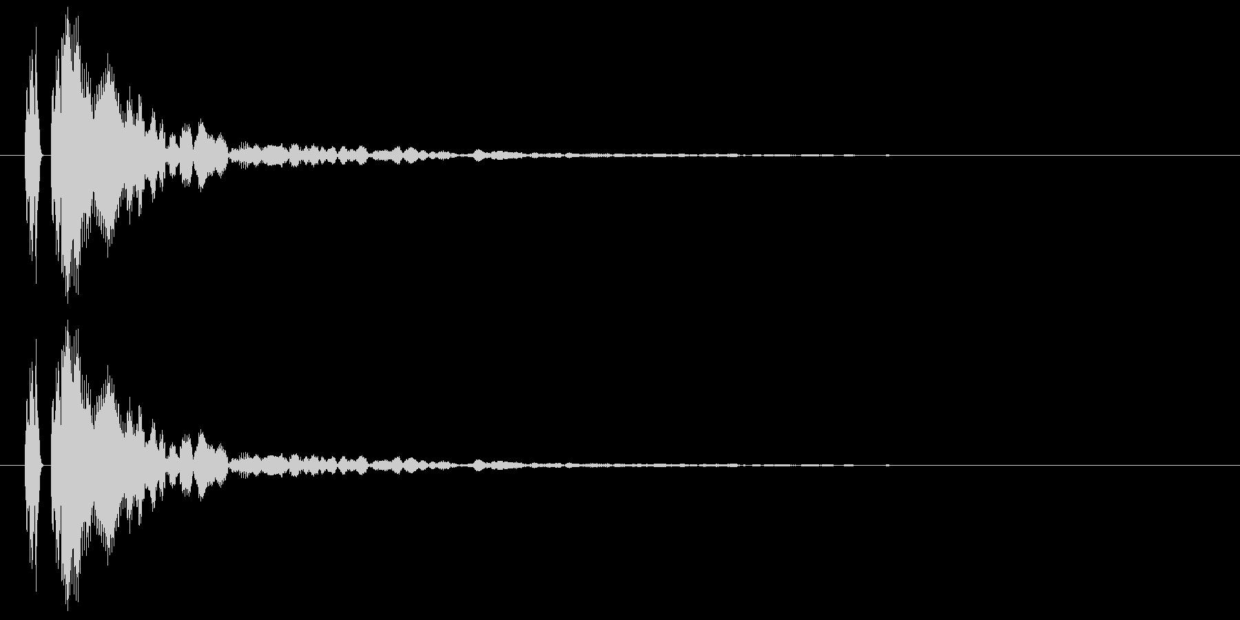 【ポン!】とてもリアルな太鼓の鼓!02の未再生の波形