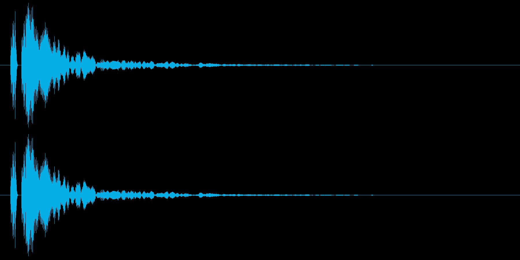 【ポン!】とてもリアルな太鼓の鼓!02の再生済みの波形