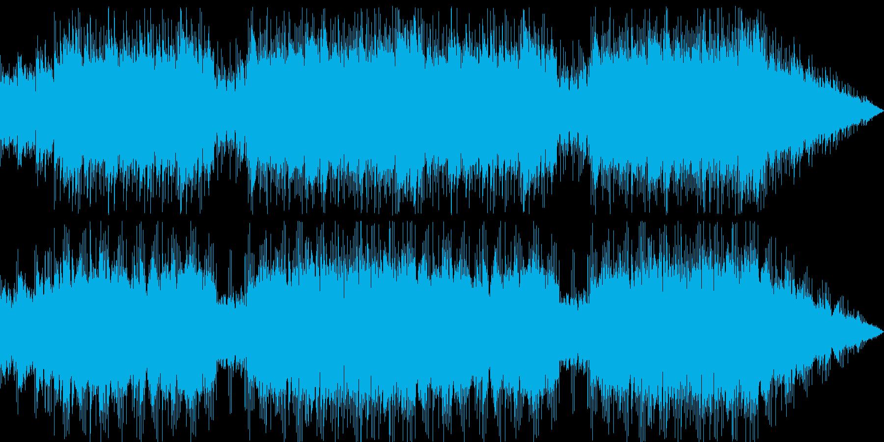 壮大で感動的な雰囲気に包まれたBGMの再生済みの波形