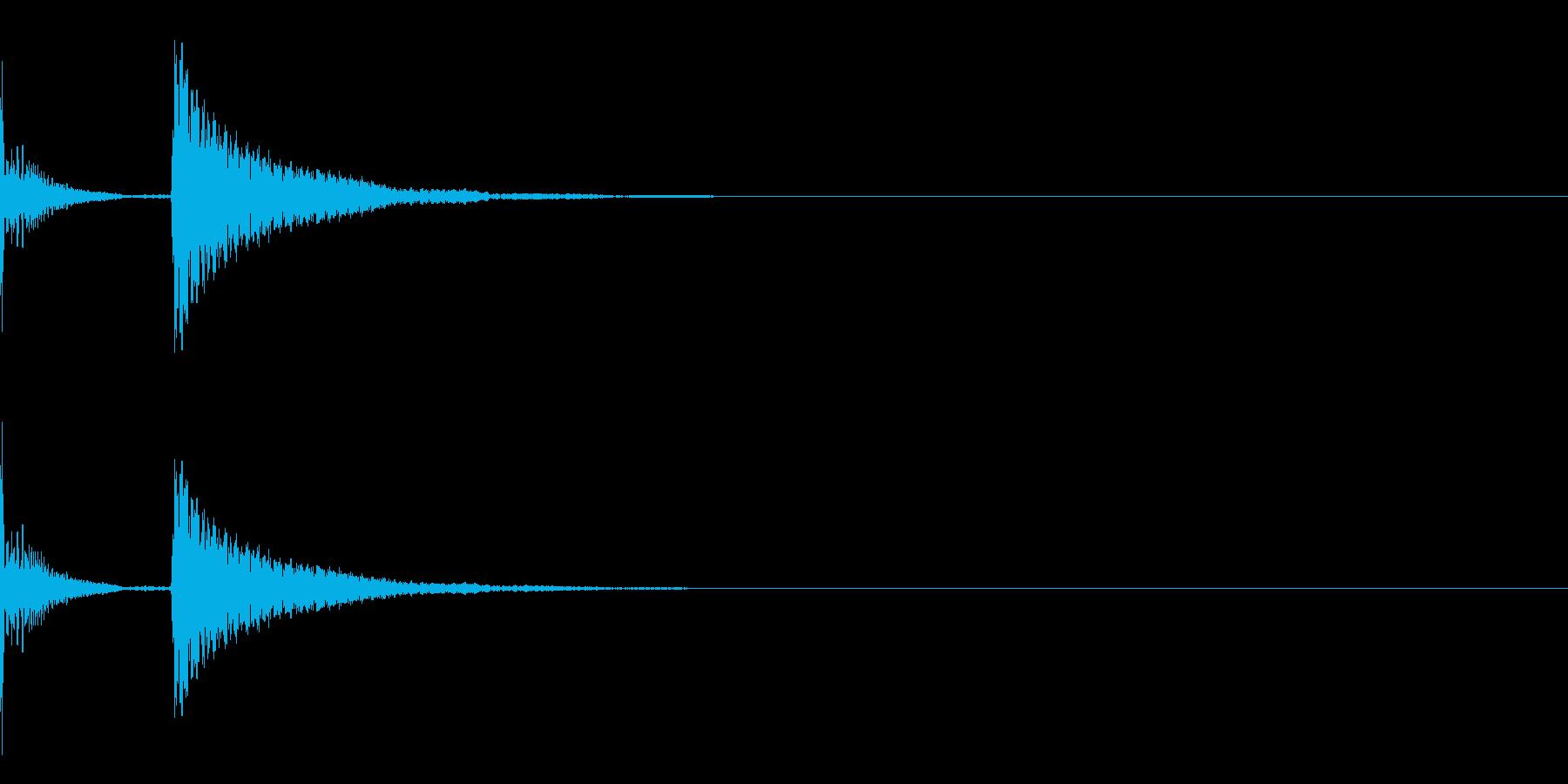 ぽこん(場面転換・コメディ)の再生済みの波形