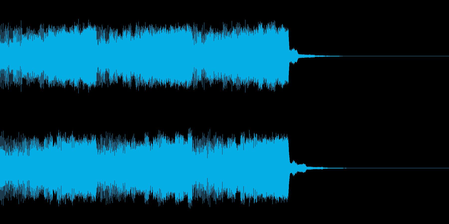 パチンコ的アイテム獲得音01C(電子音)の再生済みの波形