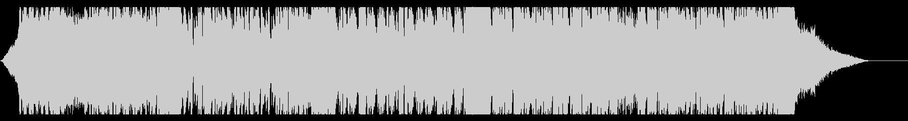 未来的でハードなドラムンベースの未再生の波形