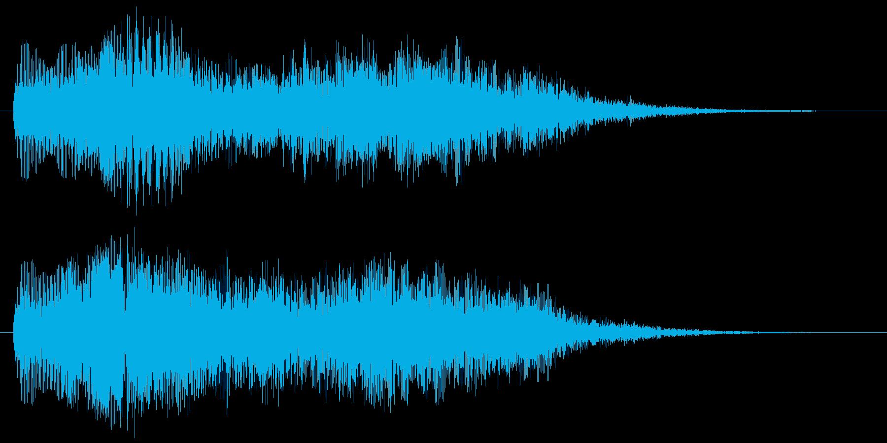 決定 選択 スタート クールな1フレーズの再生済みの波形