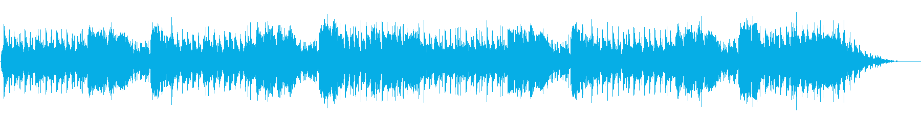 海辺を歩くゆったりとした曲の再生済みの波形