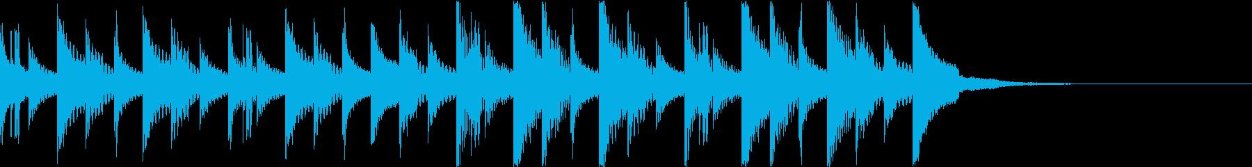 機械仕掛けのような木琴のジングルの再生済みの波形