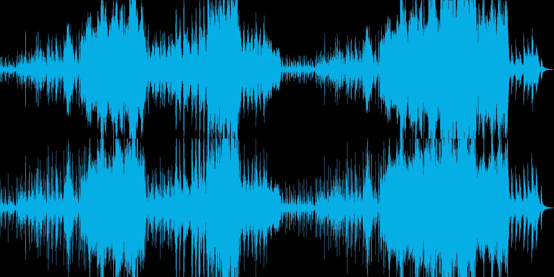 美しいメロディーのホッとするオーケストラの再生済みの波形