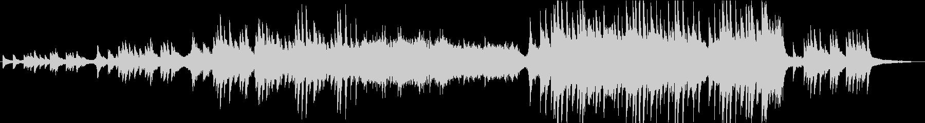 勇気づけられるピアノダブステップ2ピアノの未再生の波形