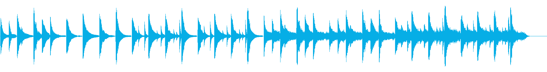 ノスタルジック ピアノ インストの再生済みの波形