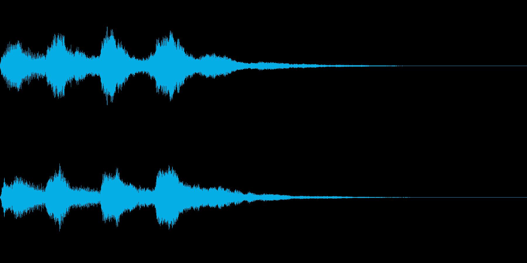 チャーチオルガン系の場面転換 切り替え音の再生済みの波形