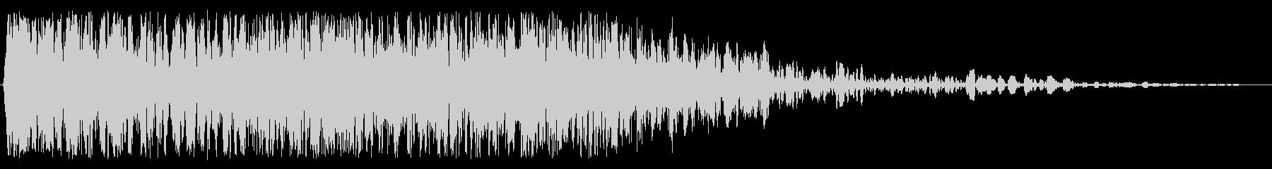 重いクランチの影響の未再生の波形