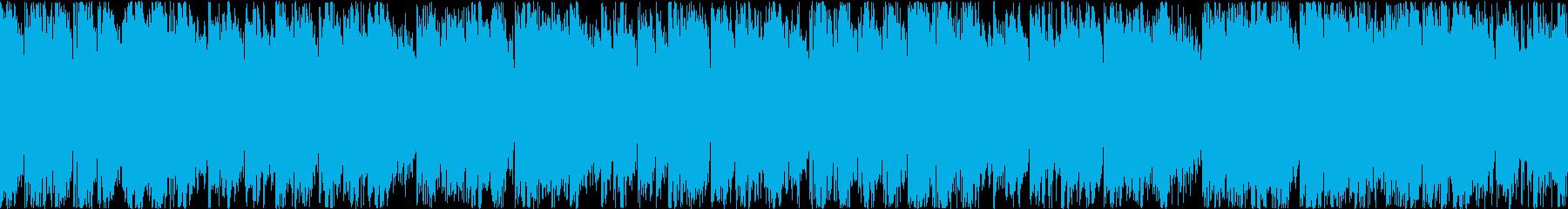 アップテンポなエレクトロポップ(ループ)の再生済みの波形