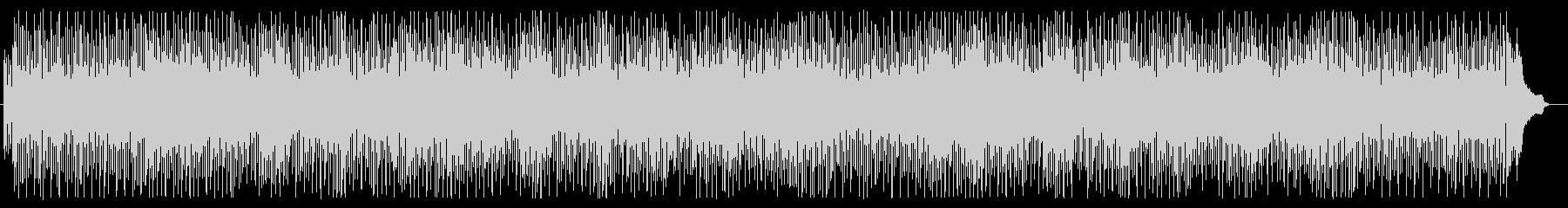 軽快で楽しくなるアップテンポな曲の未再生の波形