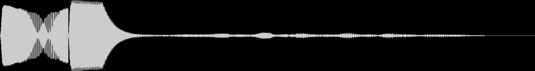 1秒カウント/ボタン押したとき/時報38の未再生の波形