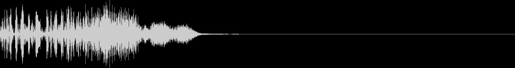 表示発生、保留変化時の音の未再生の波形
