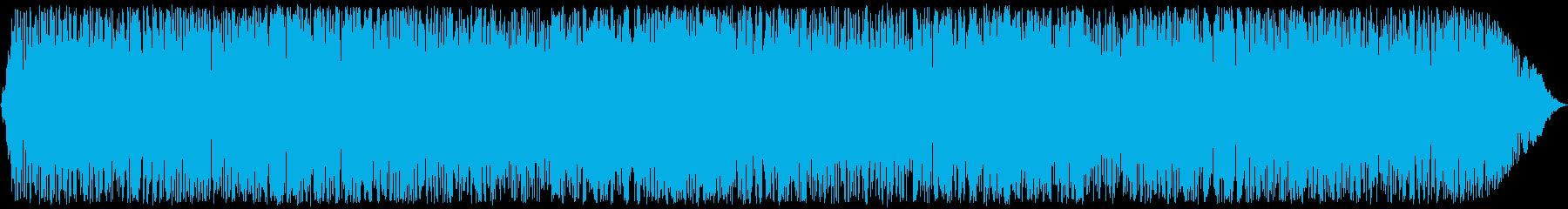 軽い割れ目を伴う重火のゴロゴロ火の...の再生済みの波形