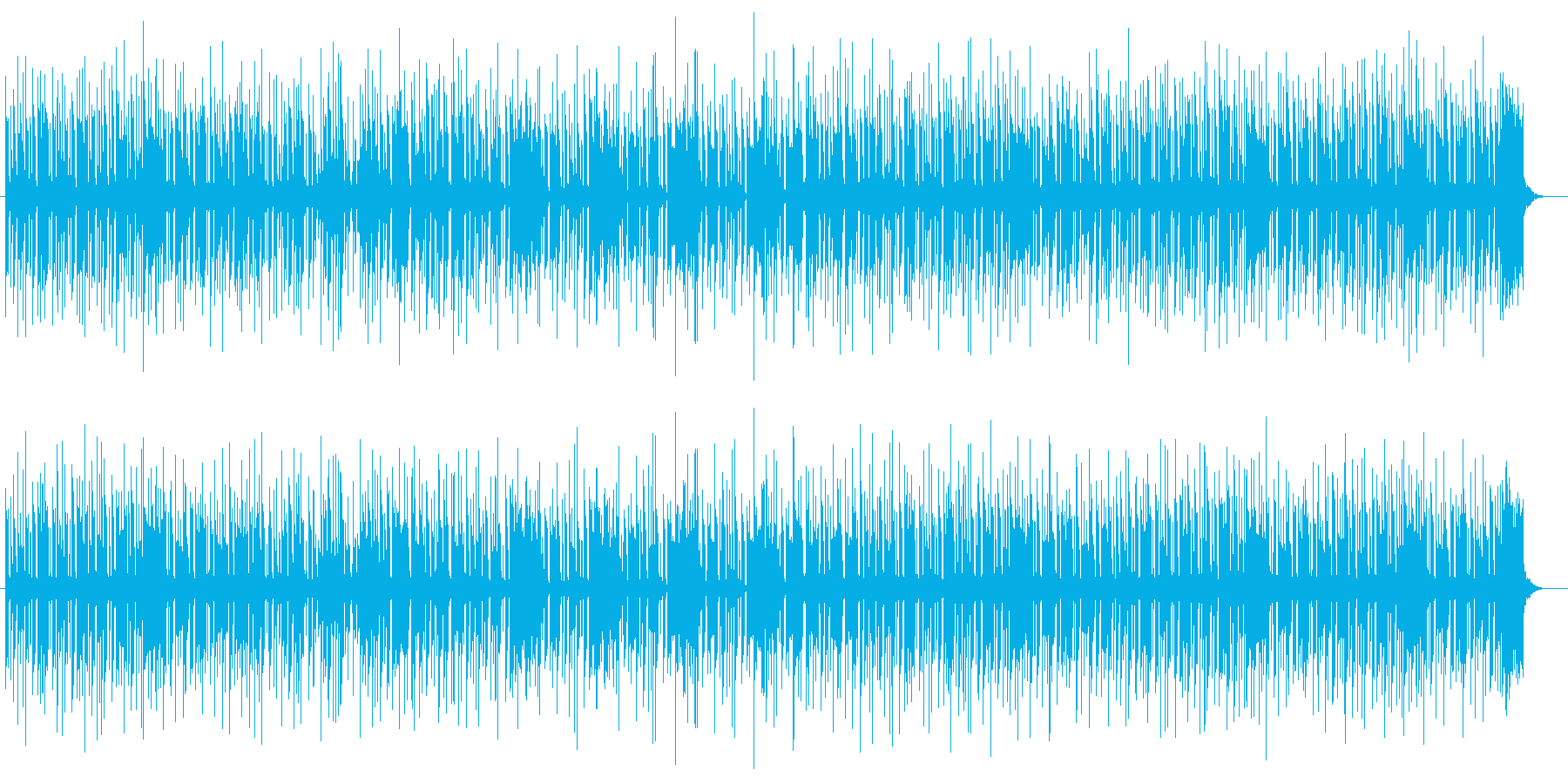 弾ける楽しさのあるミュージックの再生済みの波形