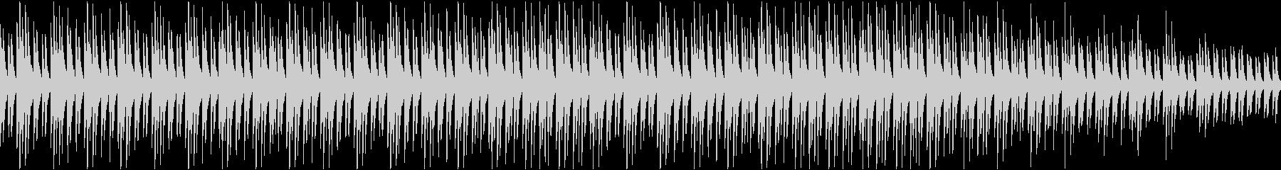 サティ風 ピアノのループ曲 ヒーリングの未再生の波形
