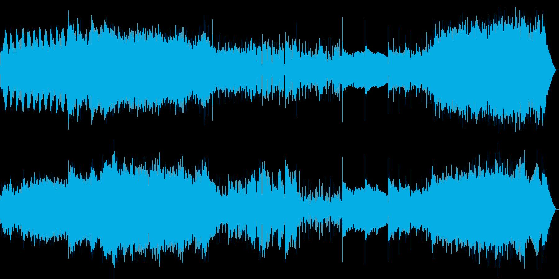 なめらかでおしゃれなメロディーの再生済みの波形