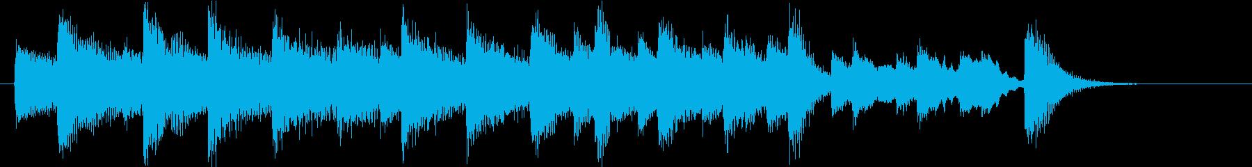お正月・一月一日モチーフピアノジングルDの再生済みの波形