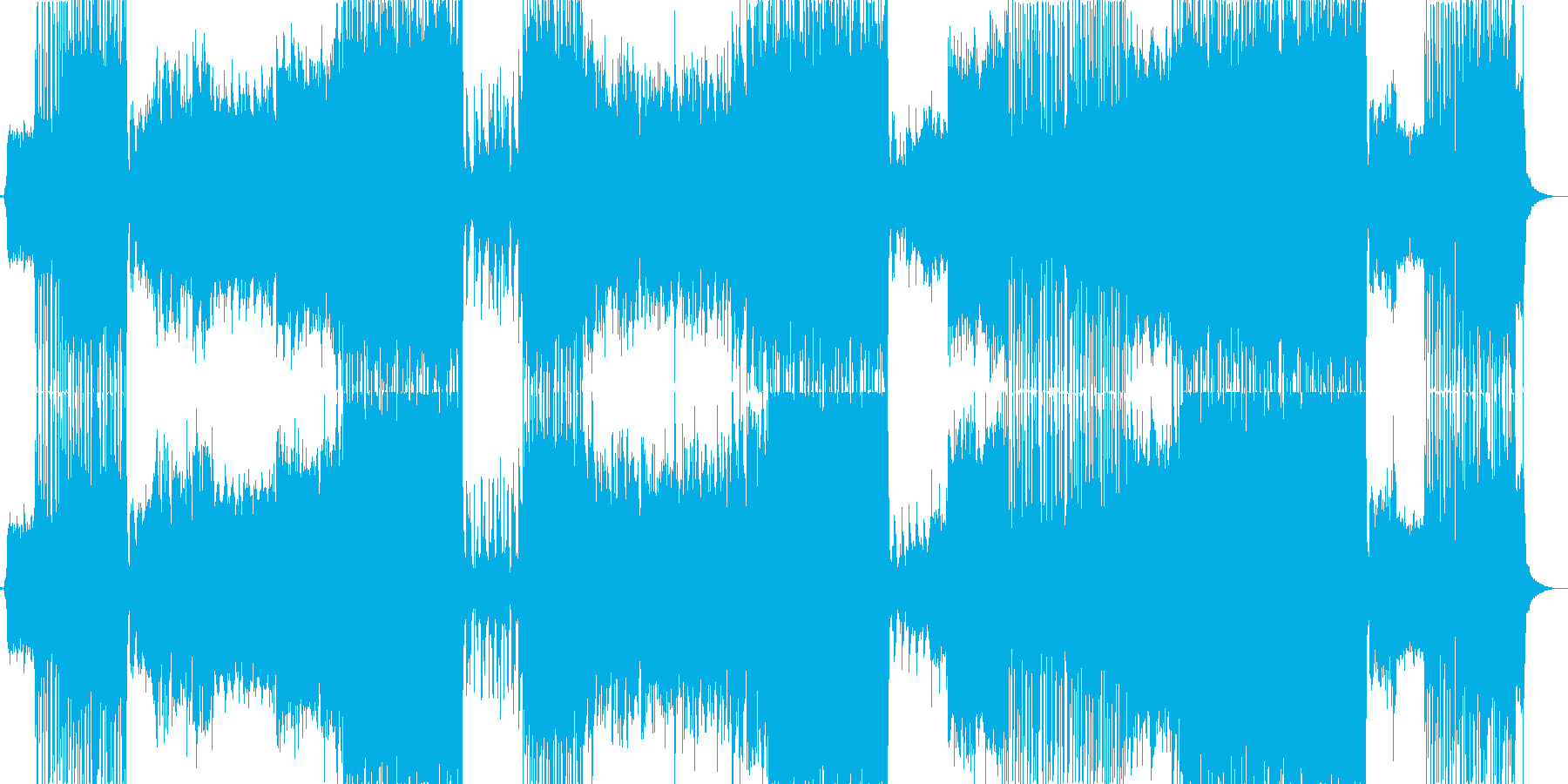 サビがアニメのピンチからの逆転シーン風曲の再生済みの波形