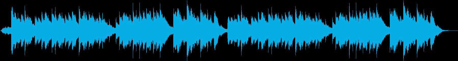 ロマンチック エレガント な ピアノの再生済みの波形