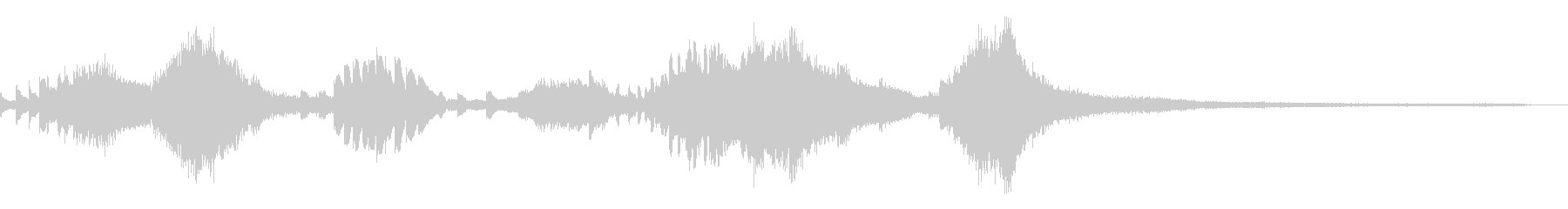 和風のジングル4a-ピアノソロの未再生の波形