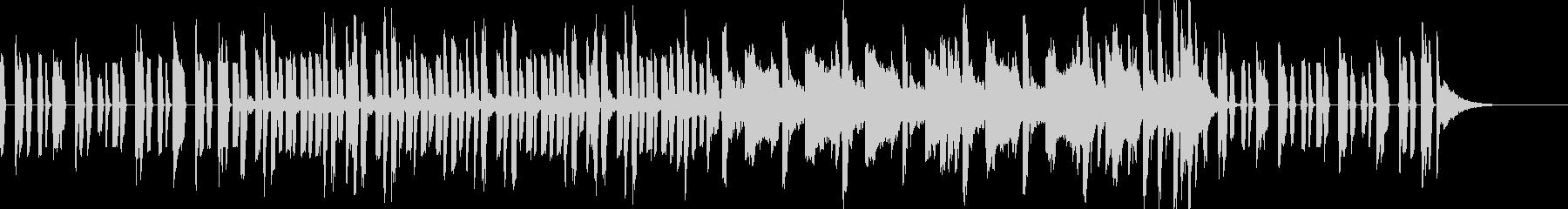 ベースとドラムが印象的なEDMジングルの未再生の波形