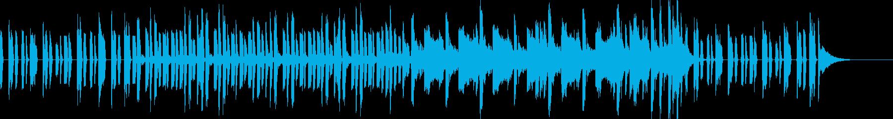 ベースとドラムが印象的なEDMジングルの再生済みの波形