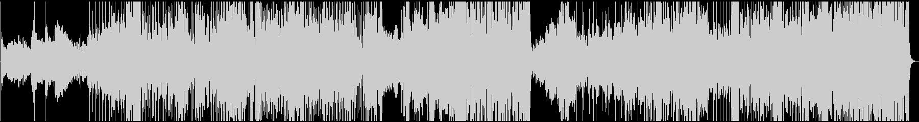 ドラマティックなフュージョン風BGMの未再生の波形