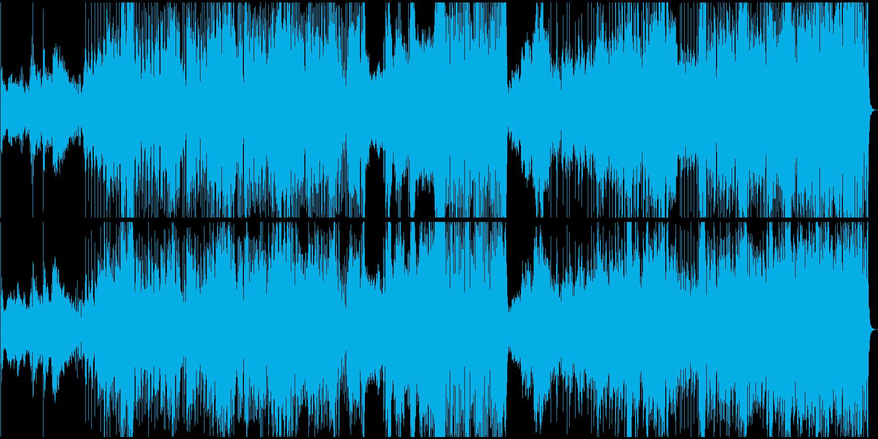 ドラマティックなフュージョン風BGMの再生済みの波形