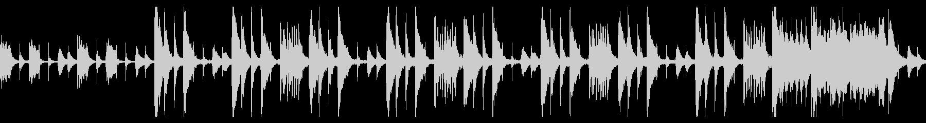 ギャグシーン風のとぼけたBGMの未再生の波形