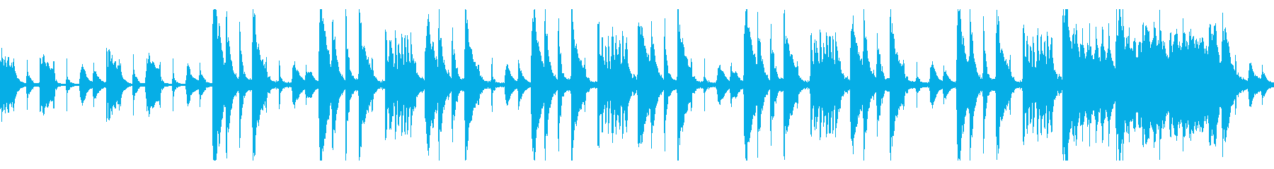 ギャグシーン風のとぼけたBGMの再生済みの波形