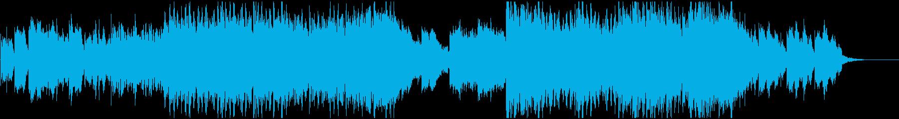 ハロウィン風の不吉な雰囲気のBGMの再生済みの波形
